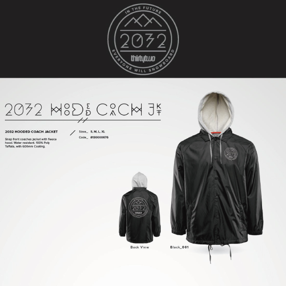 2032 HOODED COACH JACKET/商品画像
