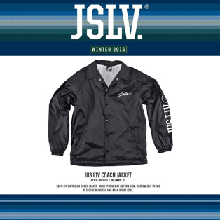 JUST LIV COACH JACKET画像