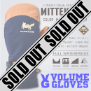 MITTEN KING/NAVY/REAL LEATHER